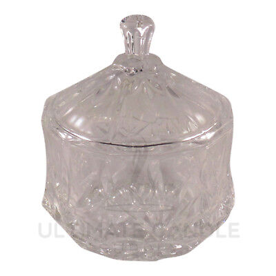 Bulk 24 x Crystal Glass Candy Sugar Jars with Lids (just $3.00 per jar)