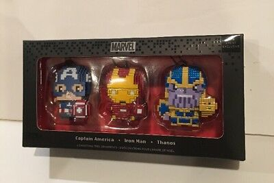 Sdcc 2018 Hallmark Marvel Avengers Pixel Ornament Captain America Thanos Ironman