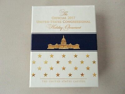 New Official 2017 Congressional Holiday Ornament U.S. Capitol Made in USA