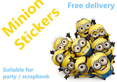 Minion Despicable Me vinyl pvc sticker party bag candy bag Scrapbook book