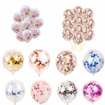 10pcs 12'' Confetti Filled Balloon Helium Balloons Birthday Wedding Hen Party