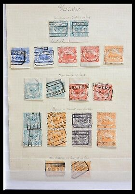 Lot 29077 Collection railroad stamps of Belgium with varieties 1915-1920.