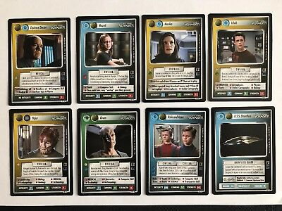 Star Trek CCG Selection Of Dual Affiliation Cards From The Borg Expansion Set