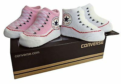 Converse Baby Bootie Socks Gift Box - Chuck Pink & White - 2 Pack