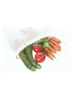 Reusable organic cotton produce bags-no plastic bags for fruit /veg plastic free