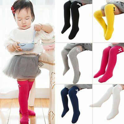 Baby Kid Girl Knee Calf High Socks Cotton Long Cute Tight Stocking 1 Pair 0-3Y