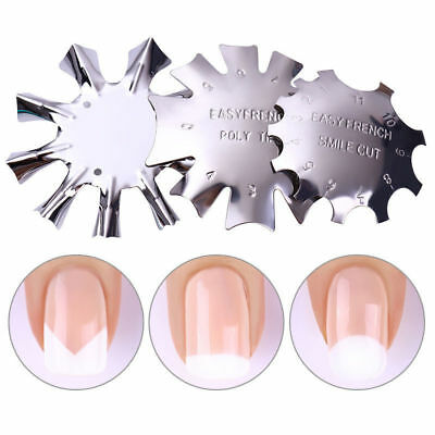 Nail Cutter French Smile Line Nail Manicure Edge Trimmer Acrylic Nail Tools