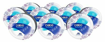 "Dixie Everyday Paper Plates, 8 1/2"", 480 Count, 10 Packs of 48 Plates, Lunch or"
