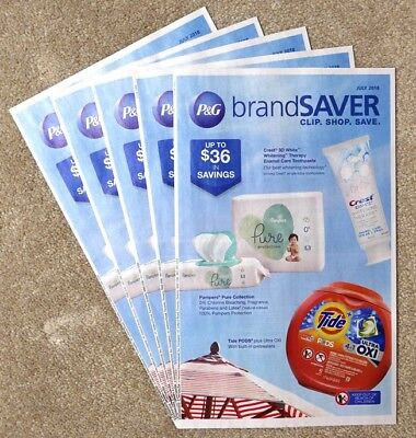 5 x P&G Brandsaver Coupon Booklets July 2018
