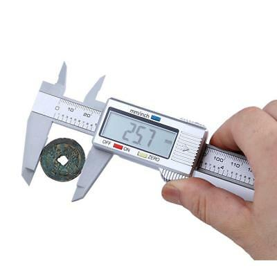 6 Inch Digital Vernier Caliper 150mm Micrometer Electronic Tool BATTERY Included