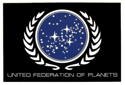 Star Trek United Federation of Planets Crest Sticker Decal Sci-Fi Starfleet Flag