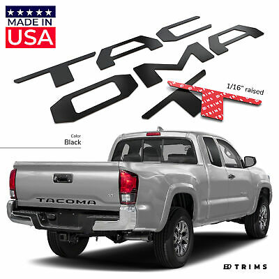 BDTrims | Black Tailgate Letters for Toyota Tacoma 2016-2019 ABS Plastic Inserts