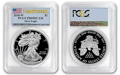 2018 W $1 American Proof Silver Eagle PCGS PR69DCAM First Strike