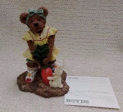 NIB Boyds Bears Sophie Sowinseed With Hopper ... Tug of War Resin 171246