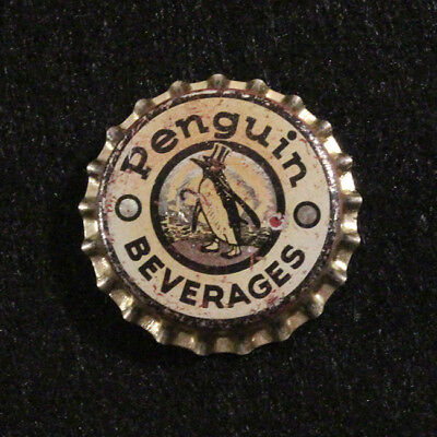 Penguin Beverages Unused Cork Soda Bottle Cap Sterling Spring Water Milwaukee Wi