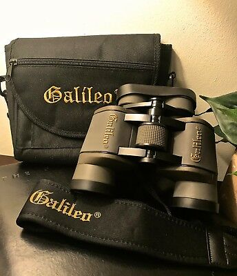 Galileo Binoculars, 8 x 40 Wide Angle Fully Coated Lens, Case and Strap included