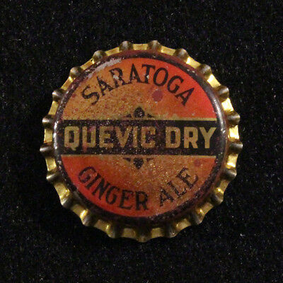 Saratoga Quevic Dry Ginger Ale Unused Cork Soda Bottle Cap Springs New York Ny++
