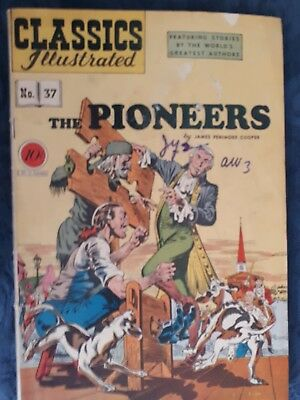 Classics Illustrated #37 G 1st Edition The Pioneers