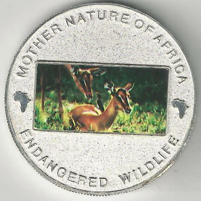 A 2004 SILVER PLATED PROOF 10 KWACHA COIN w/ DEER from MALAWI..$17.50 CATALOG