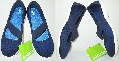CROCS Swiftwater Stretch Boat Deck Flats Sandals Shoes Women's SIZE 11 NEW/NWT