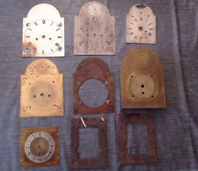 Antique Bracket Clock Dials Faces False Plates Brass Collection Spare Parts