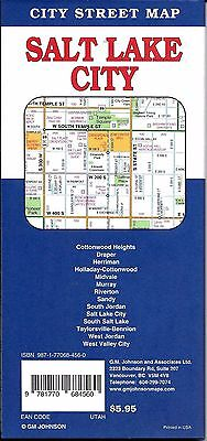 CITY STREET MAP of Salt Lake City, Utah, by GMJ Maps - $5.95 | PicClick