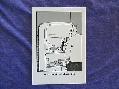 The Far Side Postcard - Vintage 80's - New - When Potato Salad Goes Bad  FUNNY!