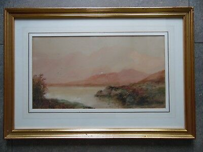 Lake Berryclare Connemara, Irish WC L/scape by Alexander Williams RHA. 2 of 2