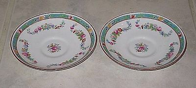 Wonderful Pair of VTG Royal Doulton Satsuma Pattern Saucers E5692-Mint Condition