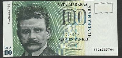 100 Mark From Finland 1986 Unc