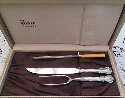 French Provincial Sterling Silver 2 Piece Roast Carving Set by Towle  ~ No Mono