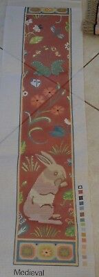 Long Tapestry CANVAS TO CREAT A RETRO VICTORIAN Bell Pull THEME IS MEDIEVAL