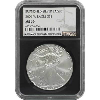 2006-W NGC MS69 Burnished Silver Eagle One Dollar Coin