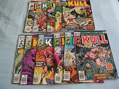 Kull the Destroyer 12, 15 - 18, 20 - 22, 24 - 26 (11 comics) from 1974 to 1978