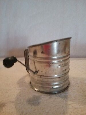 Vintage Mini Flour Sifter - Wood Knob -Child's Sifter ??- **free Shipping**