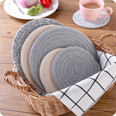 Nordic Style Cotton Dining Table Mat Coffee Cup Mug Coasters Heat Insulation  PQ