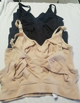 Lot Of 4 BRAVADO 1401 NURSING SILK WIREFREE BRA MED EUC