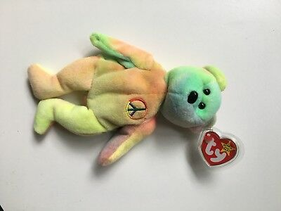 ***Super Rare*** Ty Beanie Baby Peace Bear Original Collectible 1996