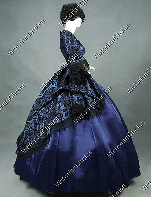 Renaissance Game of Thrones Gown Steampunk Dress Witch Halloween Costume N 143 M