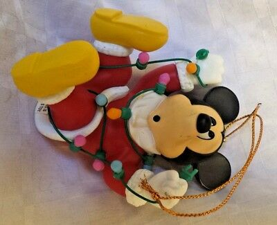 Mickey Mouse With Lights Disney Grolier Christmas Collectible Rare Xmas Ornament