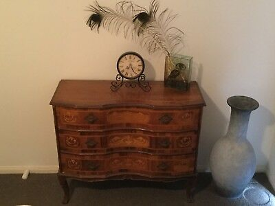 Vintage French 3 drawer commode