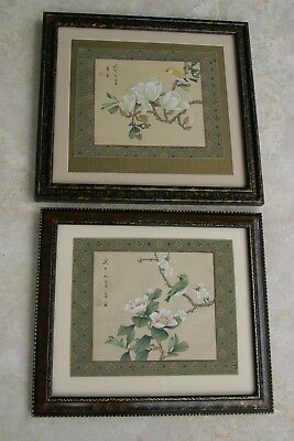 1970 Original Signed Gongbi Art Mat Framed Ink Painting On Silk Choice Dfn10,11-