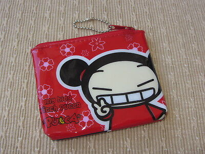 Pucca VOOZ Character Coin Wallet Pouch PVC Plastic 4 x 4-1/2 in. Never Used