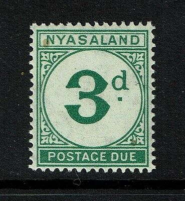 Nyasaland SG# D3 - Mint Never Hinged (SmallGum Stain) - Lot 080617