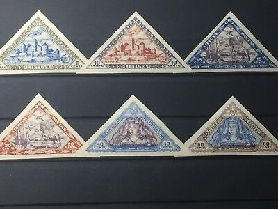 Scott #c63A-C70A 1933 Lithuania Imperf Stamps Mh