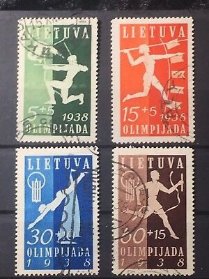 Scott #b43-B46 1938 Lithuania Stamps Used