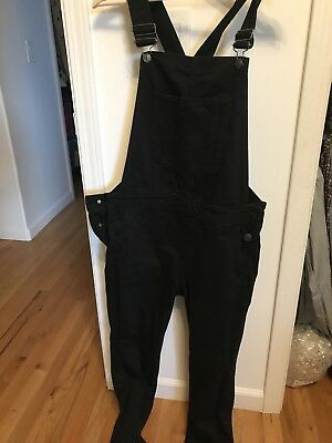 Womens Moto TopShop Overalls Jet Black New Without Tags  Size W28