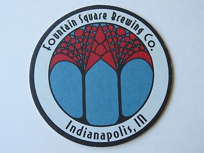 Beer Bierdeckel COASTER ~*~ FOUNTAIN SQUARE Brewing Co ~*~ Indianapolis, INDIANA