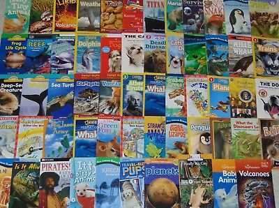 RANDOM LOT of 10 Children's SCIENCE & NATURE Early Readers Level 1 2 3 4