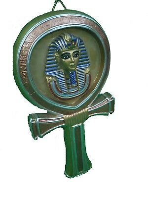 RARE ANCIENT EGYPTIAN ANTIQUE Statue King Tutankhamun Key of Life Stone 1332 Bc